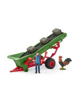 Schleich® Farm World 42377 Heuförderband mit Bauer