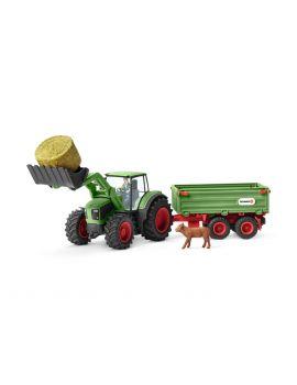 Schleich Farmworld 42379 Traktor mit Anhänger