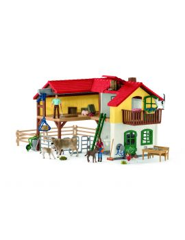 Schleich Farm World 42407 Bauernhaus mit Stall und Tieren