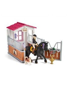 Schleich Horse Club 42437 Pferdebox mit Tori und Princess