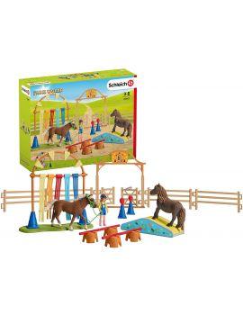Schleich Horse Club 42370 Mobile Tierärtztin mit Hannoveraner Fohlen
