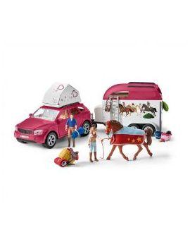 Schleich Farm World 42535 Abenteuer mit Auto und Pferdeanhänger