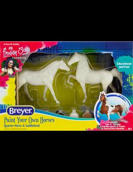 Breyer Activity Set 4260 Malset mit Quarter und Saddlebread Pferden roh