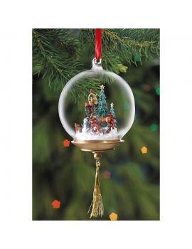 "Breyer First Holiday "" Glass Globe Ornament """