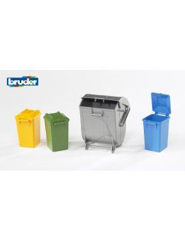 Bruder ® 02607 Zubehör Mülltonnen Set