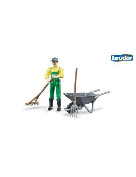 Bruder® 62610 Figurenset Landwirt mit Zubehör
