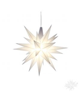Herrnhuter Stern Weiß, 13 cm mit LED