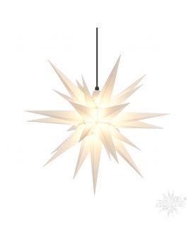Herrnhuter Stern für den Außenbereich, Weiß, 130 cm