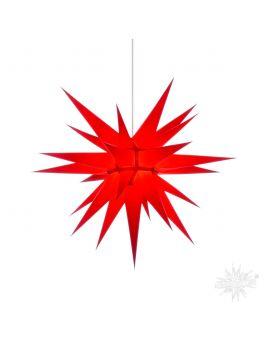 Herrnhuter Stern aus Papier Rot 70 cm
